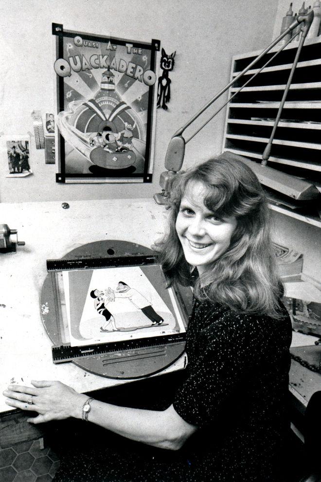 IMAGE: Sally Cruikshank at Snazelle Films, 1978