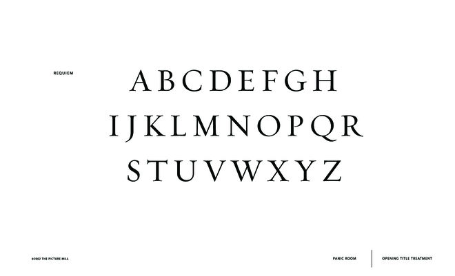 IMAGE: Typography -- Requiem typeface page