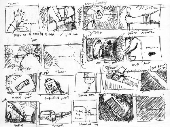 Rough storyboard