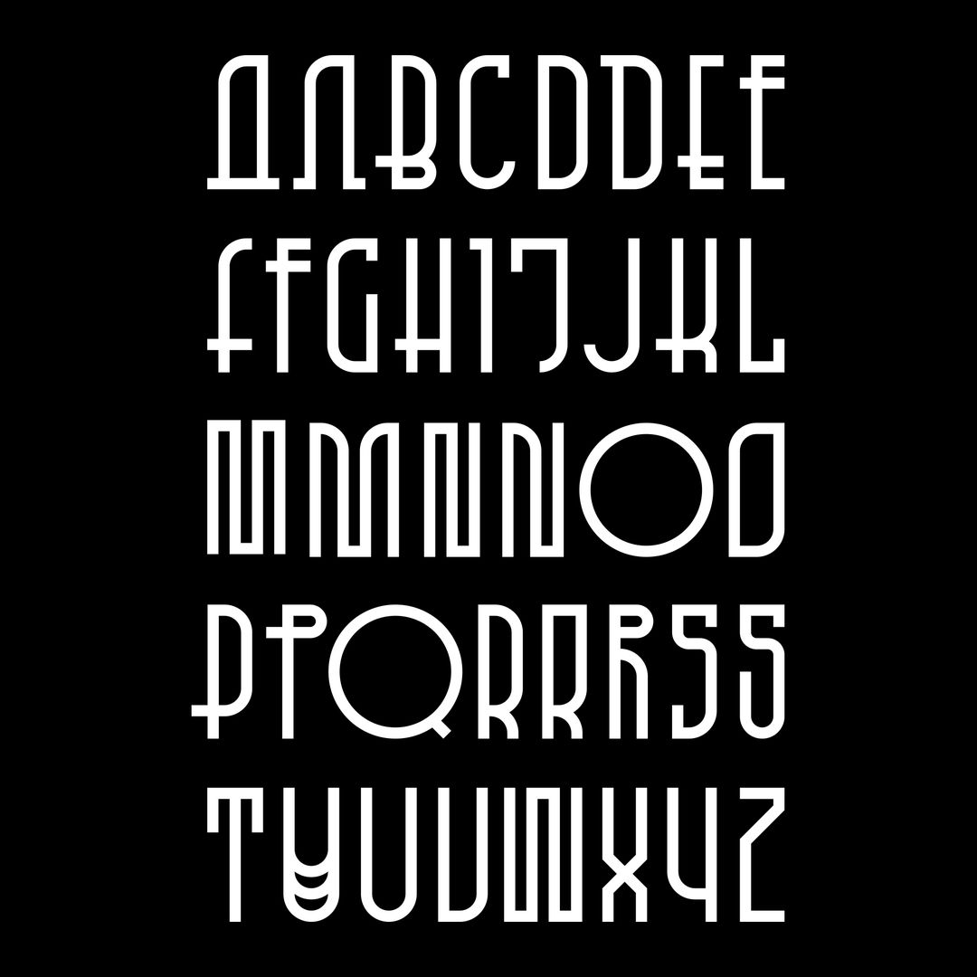 IMAGE: Type - Craig Ward final typeface on black