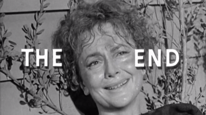 IMAGE: Lady In A Cage end title card