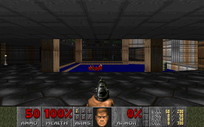 VIDEO: DOOM (1993) E1M1 Playthrough