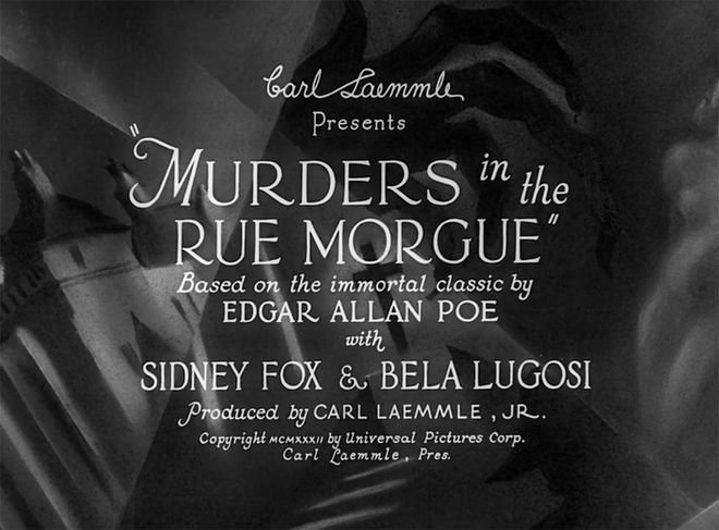 IMAGE: Murders in the Rue Morgue title card