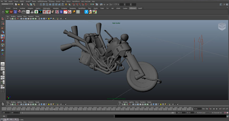 IMAGE: Full Throttle (1995) Original 3D Bike Model