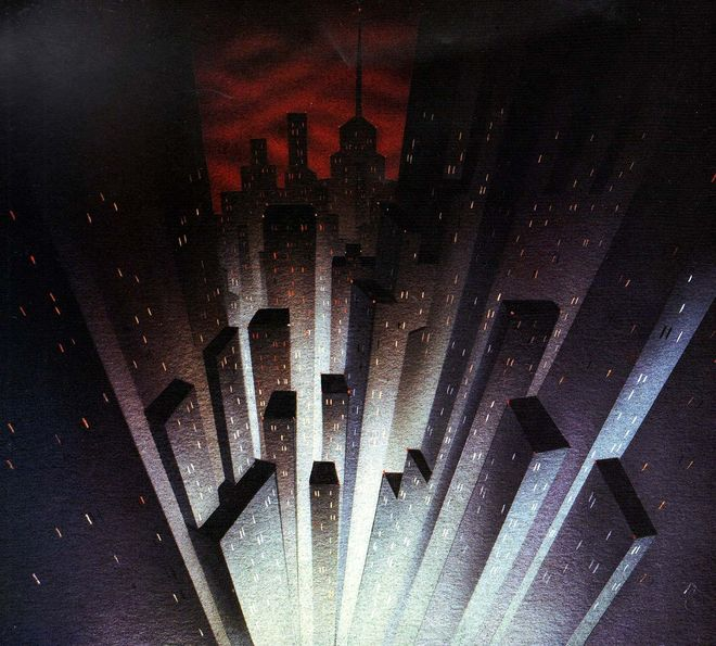 IMAGE: Batman: The Animated Series Gotham Painting