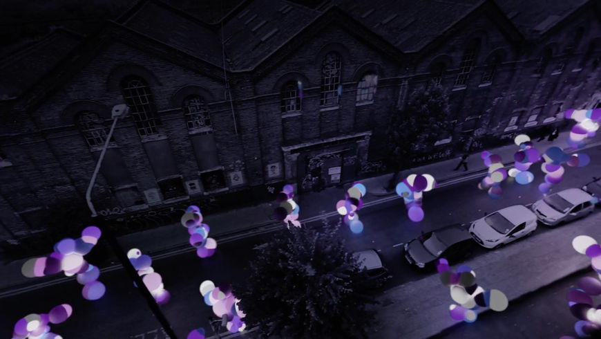 IMAGE: Still – Dancing figures purple
