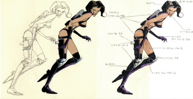 IMAGE: Aeon Flux Character Colour Reference