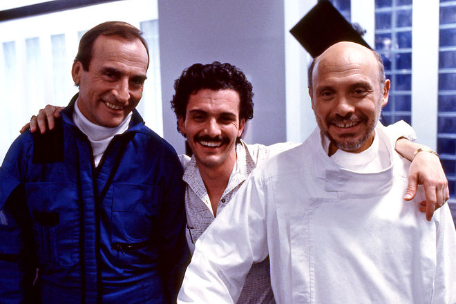 IMAGE: Photo – James B. Sikking, Eric Steven Stahl, and Hector Elizondo