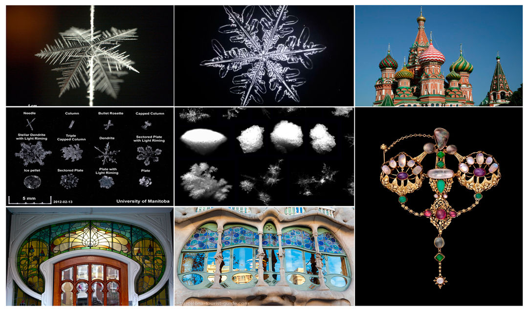 IMAGE: References 1 - snowflakes and buildings