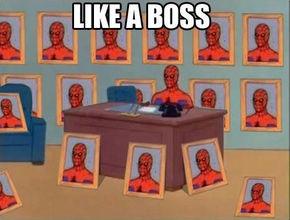 """IMAGE: """"Like a boss"""" meme"""