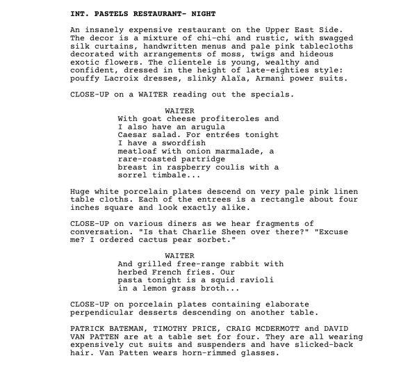 IMAGE: Script opening