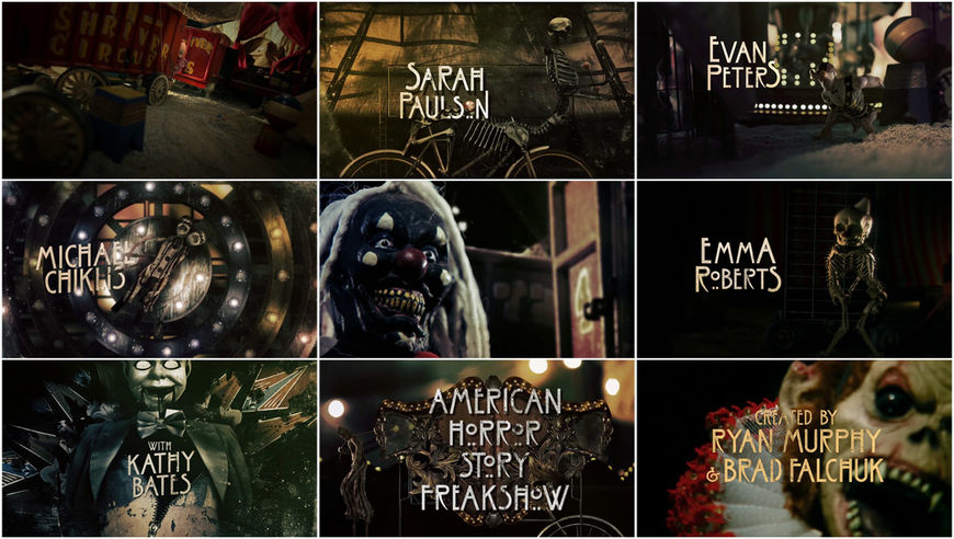VIDEO: Title Sequence – American Horror Story: Freak Show (2014)