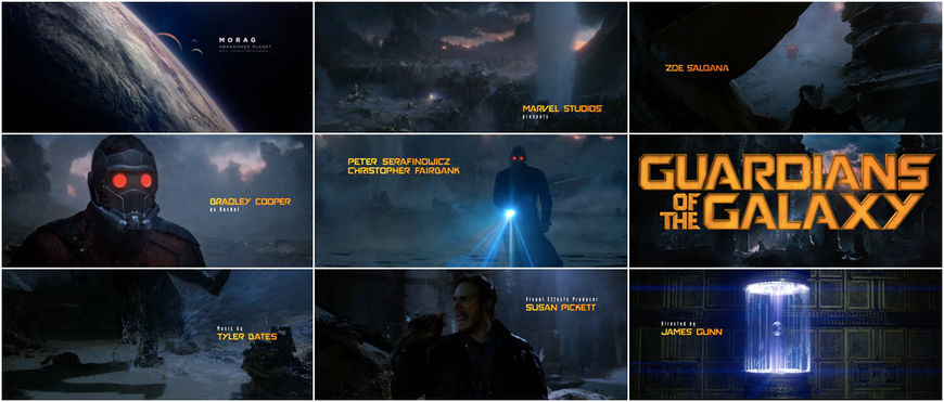 VIDEO: Title Sequence – Guardians of the Galaxy (2014)