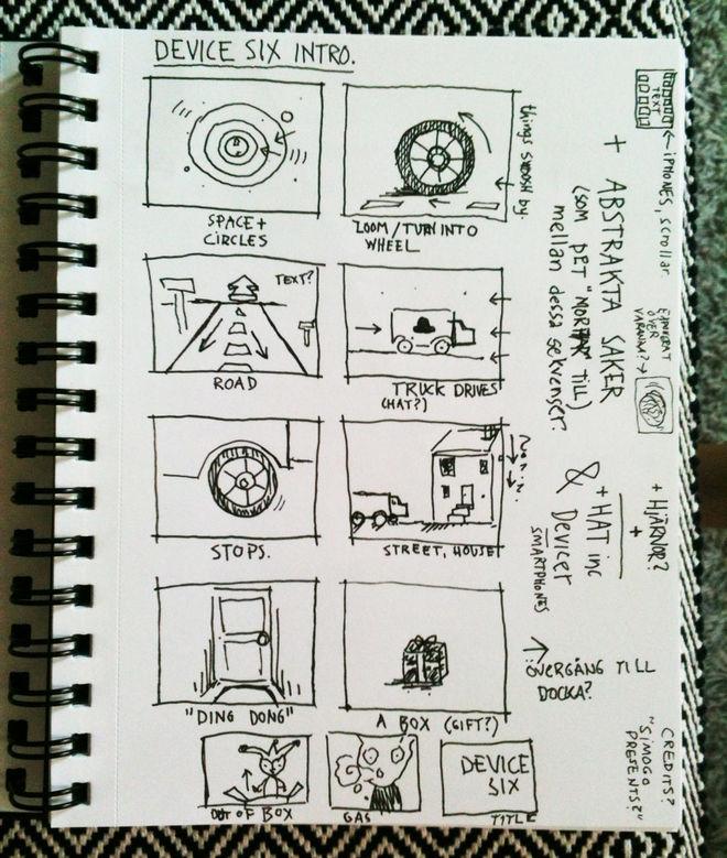 I: Storyboard sketch