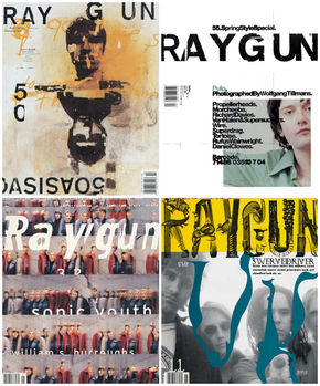 IMAGE: Ray Gun Magazine covers