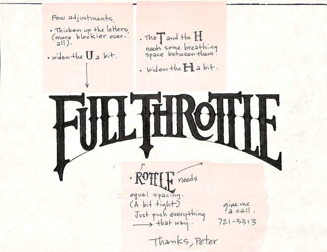 IMAGE: Full Throttle (1995) Original Logo Concept