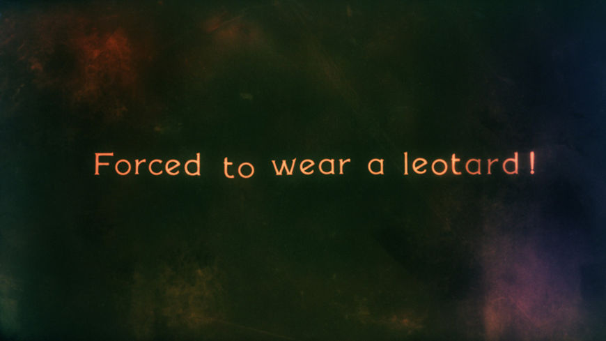 IMAGE: Forced to Wear a Leotard Intertitle