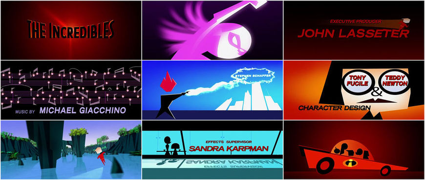 VIDEO: Title Sequence - The Incredibles
