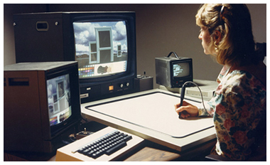IMAGE: Woman using Quantel Paintbox