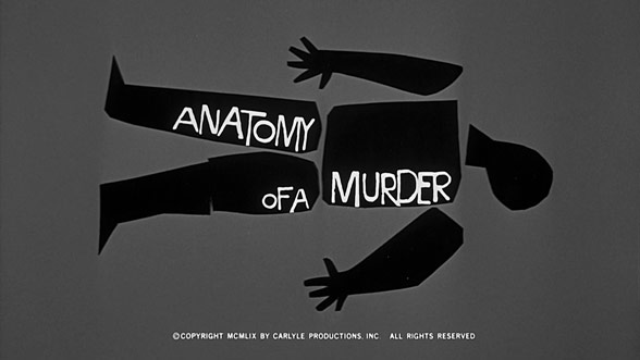 Anatomy Of A Murder 1959 Art Of The Title