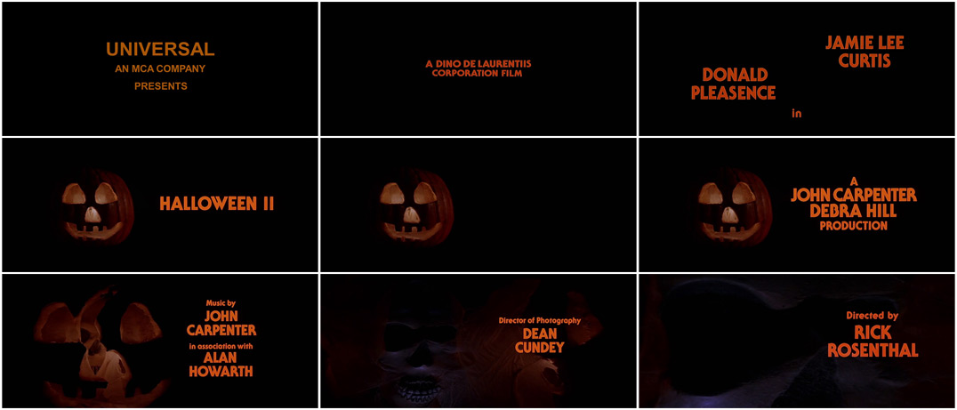 halloween ii - Halloween Sequences