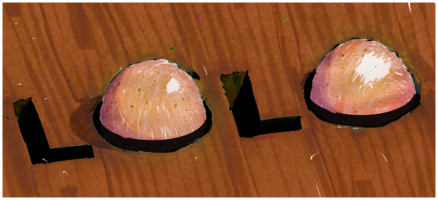 IMAGE: Type test –Lolo alternate title card