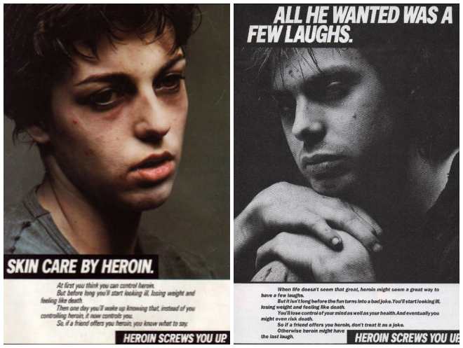 IMAGE: Heroin Screws You Up ad