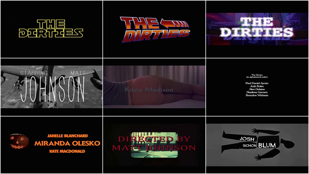 VIDEO: Title Sequence – The Dirties (2013) Main-on-end Titles