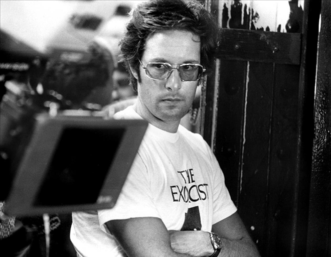 IMAGE: Friedkin in Exorcist shirt
