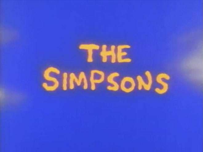 VIDEO: Original Simpsons Opening