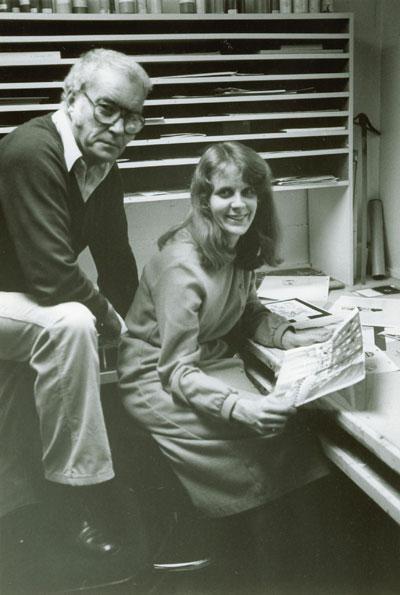 IMAGE: Gregg Snazelle and Sally Cruikshank at Snazelle Films
